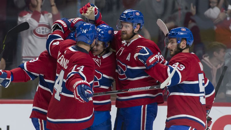 Fin du match. Un massacre en règle. 7-3 Canadiens face aux Red Wings : https://t.co/EfWwMWu9wn