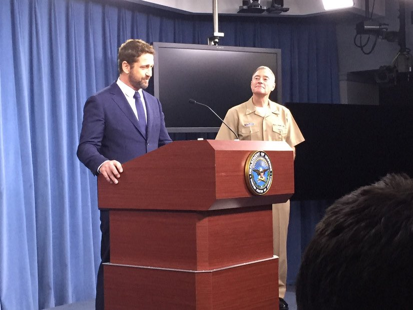 test Twitter Media - #Hollywood came to the #Pentagon today as actor Gerard Butler spoke to Pentagon reporters about his collaboration with the @USNavy in making #HunterKiller. #KnowYourMil Learn more: https://t.co/gOqxQCWTSR https://t.co/vckXJGZFjv