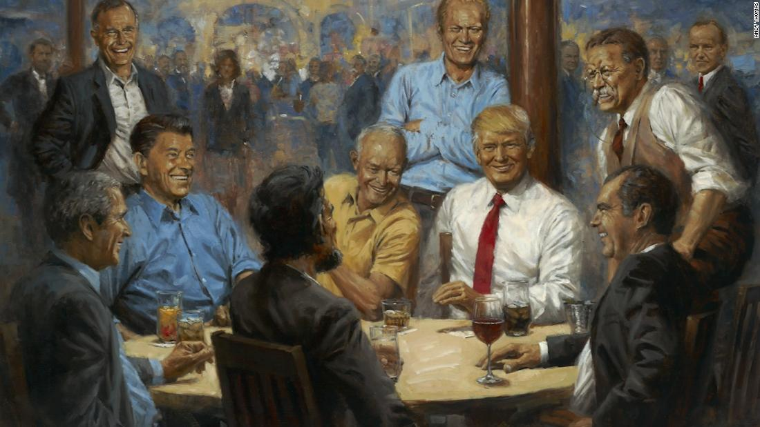 The artist who painted 'The Republican Club,' now hanging in the White House, says President Trump is 'a challenge to paint' but 'he liked what I had done' https://t.co/NnimrSeEYL