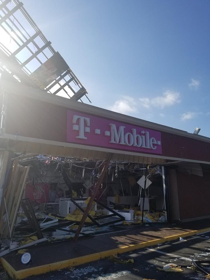 Like so many other businesses in the Florida Panhandle, one of our Panama City stores was hit hard by Hurricane Michael. Our @TMobile Engineering team is working around the clock restoring the network. We're helping all affected residents as quickly as we can. #HR4HR