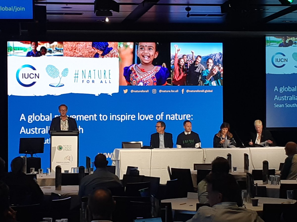 RT @WUParks #IPLC2018 - Official Australian launch of a Global movement to inspire love of nature @IUCN #NatureForAll - with @WUParks Chair Jayne Miller @jayneburghparks & WUP Ambassador @Penalosa_G ,  #WCPA Deputy Chair Julia Londoño, #CEC Chair Sean Southey @natureforall