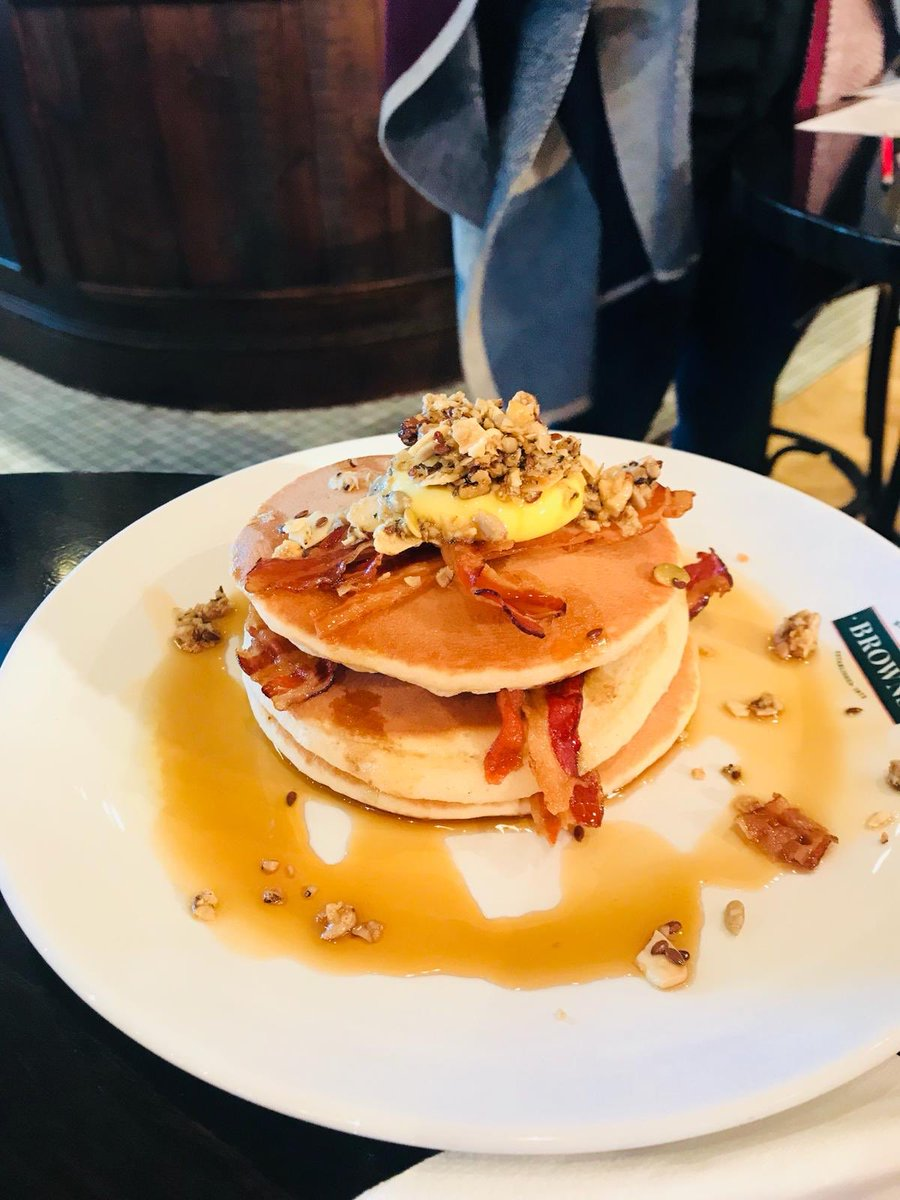 Have you tried our new Breakfast pancakes with pancetta #breakfast  #bullring #birmingham #pancakes https://t.co/dJUlOyfy4b