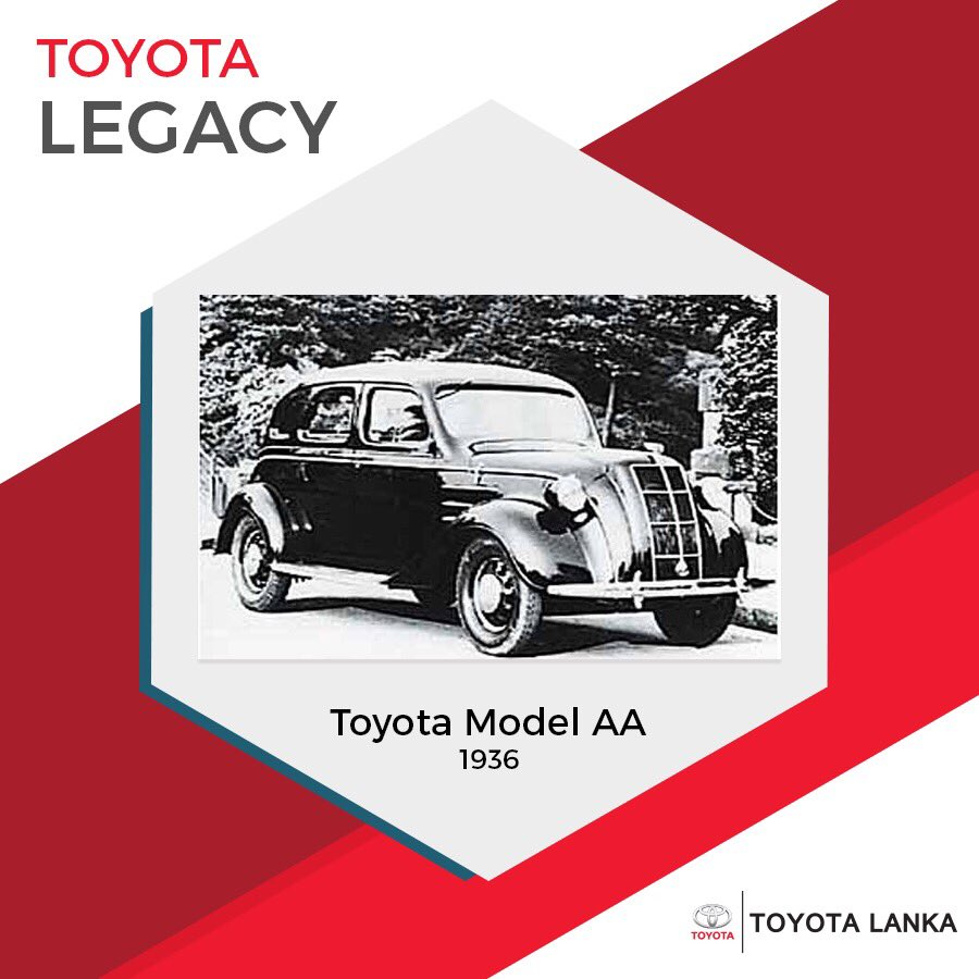 The AA was born in 1936 at the automobile division of Toyoda Automatic Loom Works, bearing the name of its founder Kiichiro Toyoda.  #ToyotaLegacy #toyotalanka #toyota https://t.co/F3Wb2AokuD