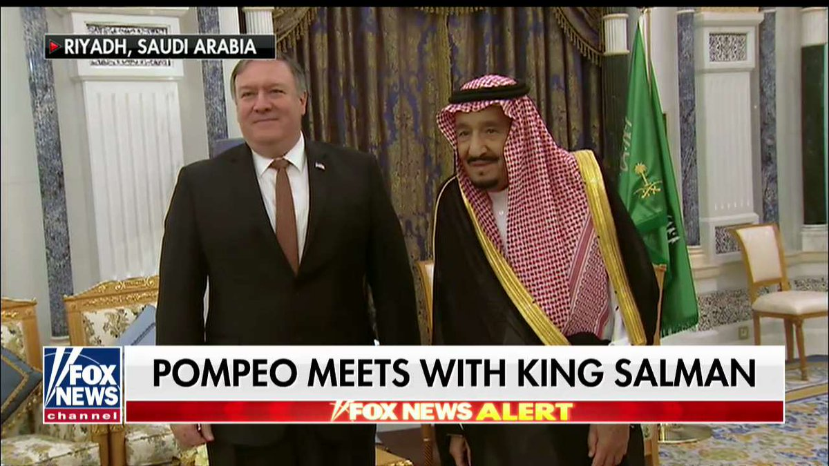.@SecPompeo meets with King Salman https://t.co/lYq2a5Rmxx