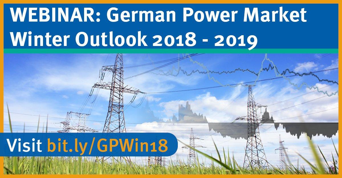 NEW WEBINAR: German #Power Market - Winter Outlook 2018-19 ~> https://t.co/4xbbm3JQ2m #nuclear #hydro #coal #gas