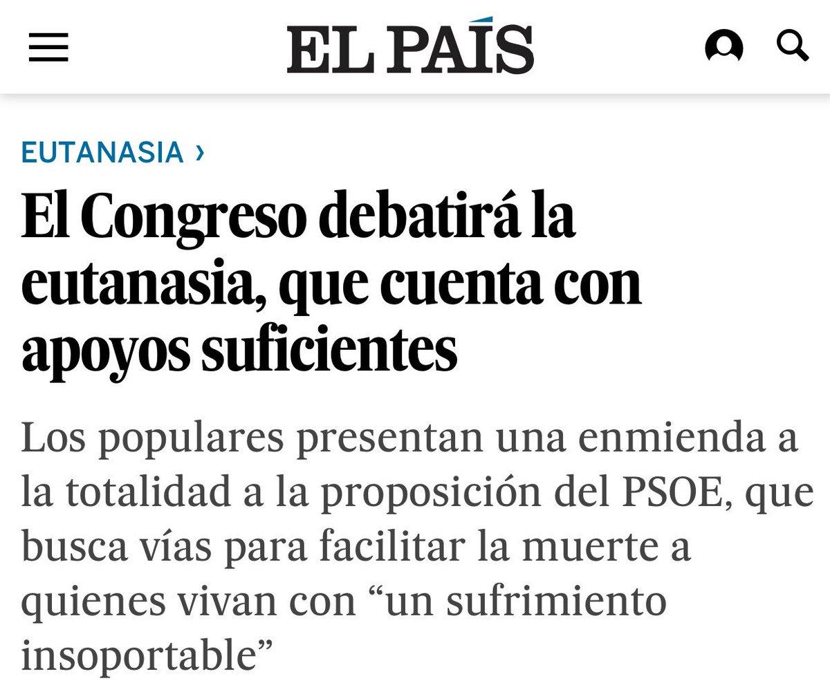 Trabajamos para que España pueda tener una Ley de eutanasia pronto. @psoe