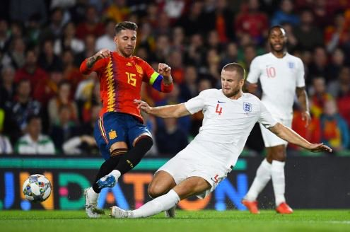 UEFA NATIONS LEAGUE: England 3-2 Spain   It's safe to say Eric Dier gave Sergio Ramos a taste of his own medicine! WHAT A TACKLE...