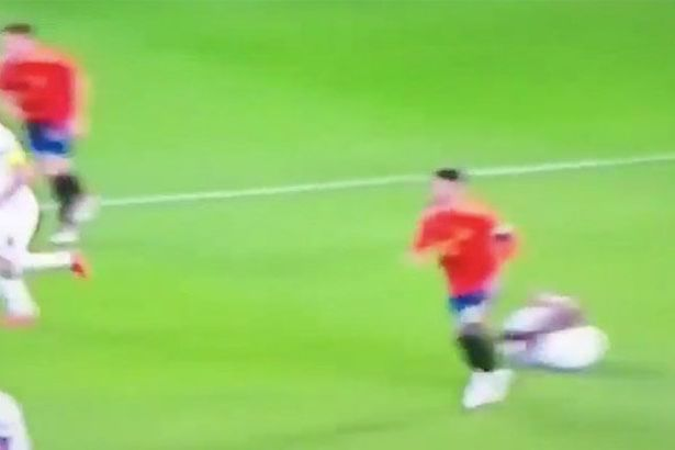 Fans are not happy with what Ramos did to Sterling off the ball Photo