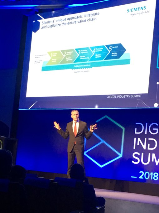"#DigitalIndustrySummit @JanMrosik: ""2 steps to integrate and digitalize the entire..."