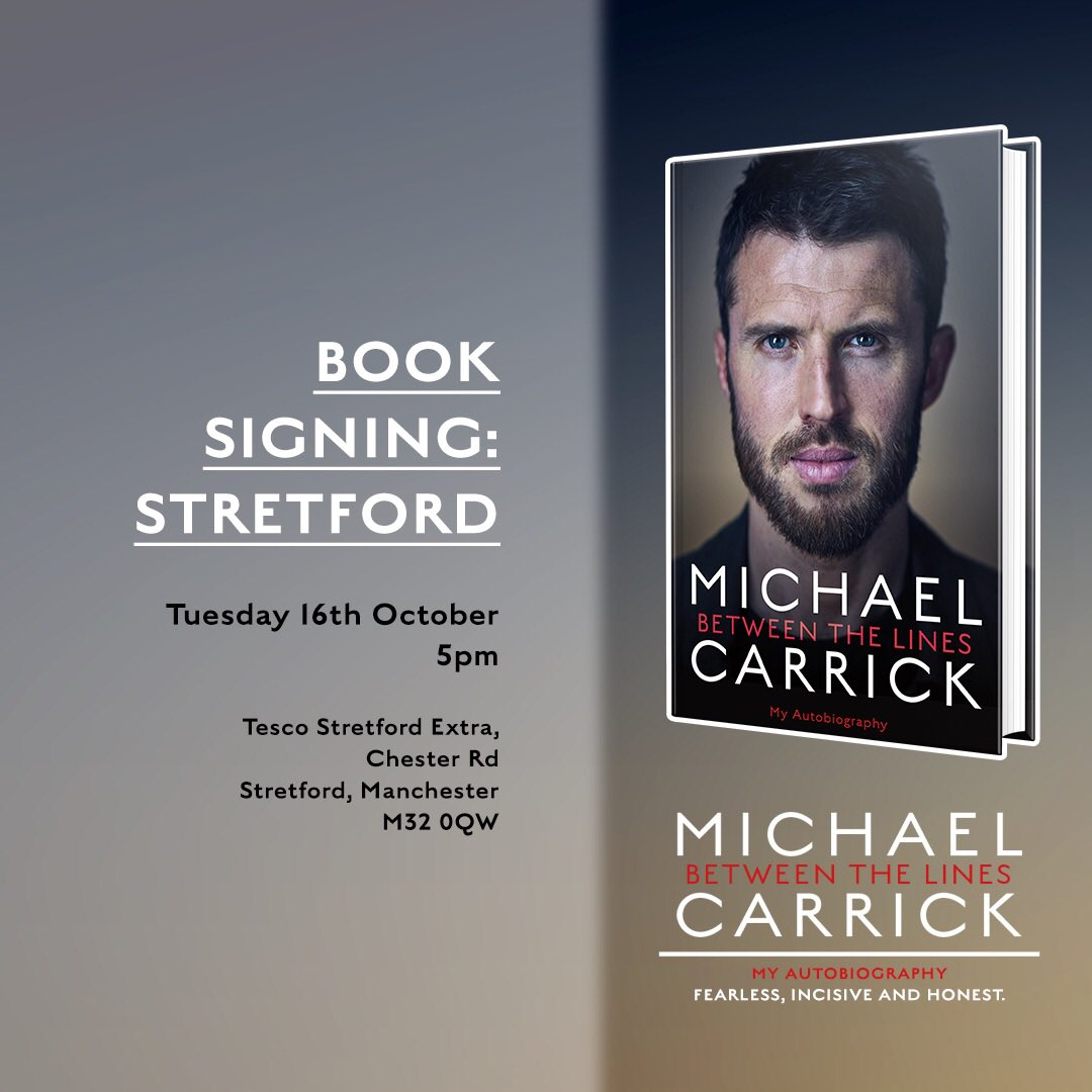Manchester book signing later today, look forward to seeing you there  📚🖊📷⚽️👍🏼