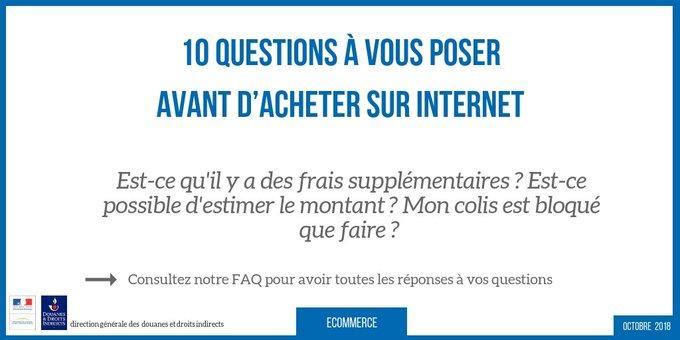 #MardiConseil 10 questions à vous poser avant de commander sur internet. On fait le point sur les frais de douane, la livraison, les conditions générales de vente. A lire ici ➡️ #consommateur Photo