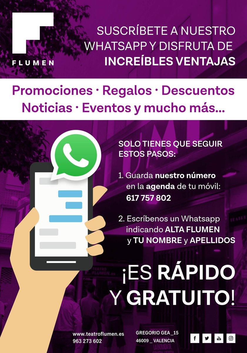 Teatro Flumen Auf Twitter Suscríbete A Nuestro Whatsapp Y
