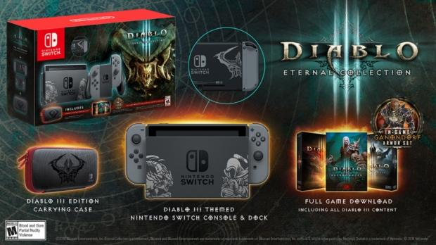 .@NintendoAmerica has announced that they will be bringing out a @Diablo III themed #NintendoSwitch bundle https://t.co/ujYcbWYHyk