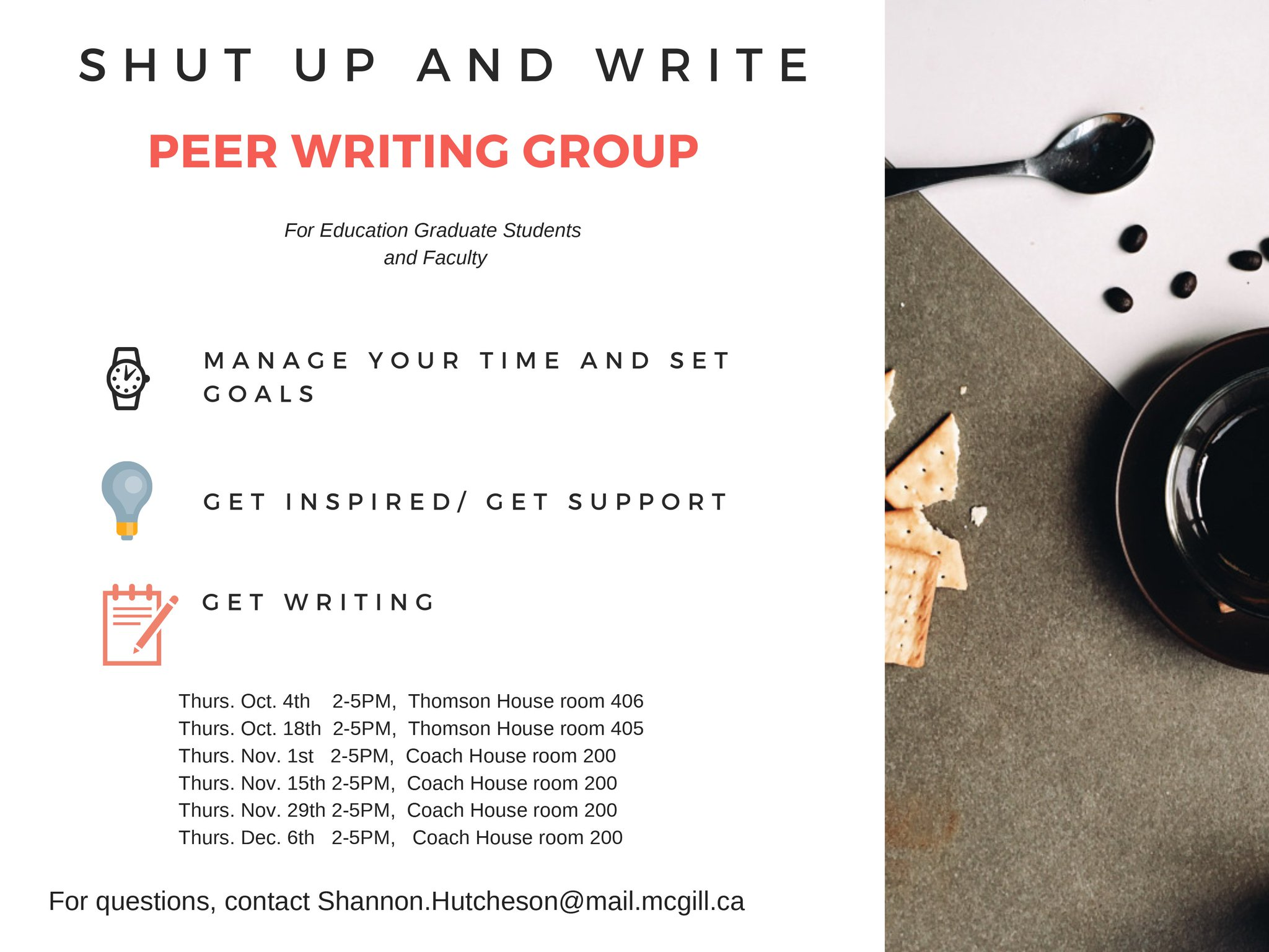 Shut Up and Write: Peer Writing Group | Integrated Studies