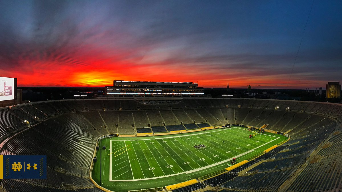 God, Country, Notre Dame.   #GoIrish ☘️ #Undefeated