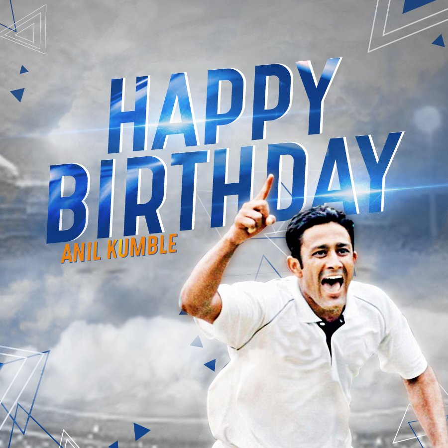 We wish our wicket fame and the legendary leg spinner, Anil Kumble a hearty, healthy and a very happy birthday!