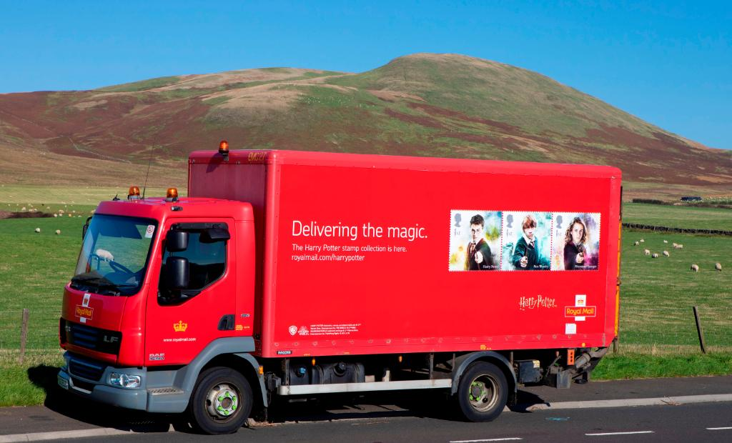Harry Potter Stamps Royal Mail Trucks Livery