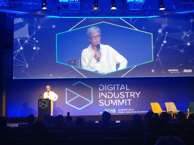 #DigitalIndustrySummit Claudie Haigneré clôt la journée de conférences : «#Cybersécurit�...