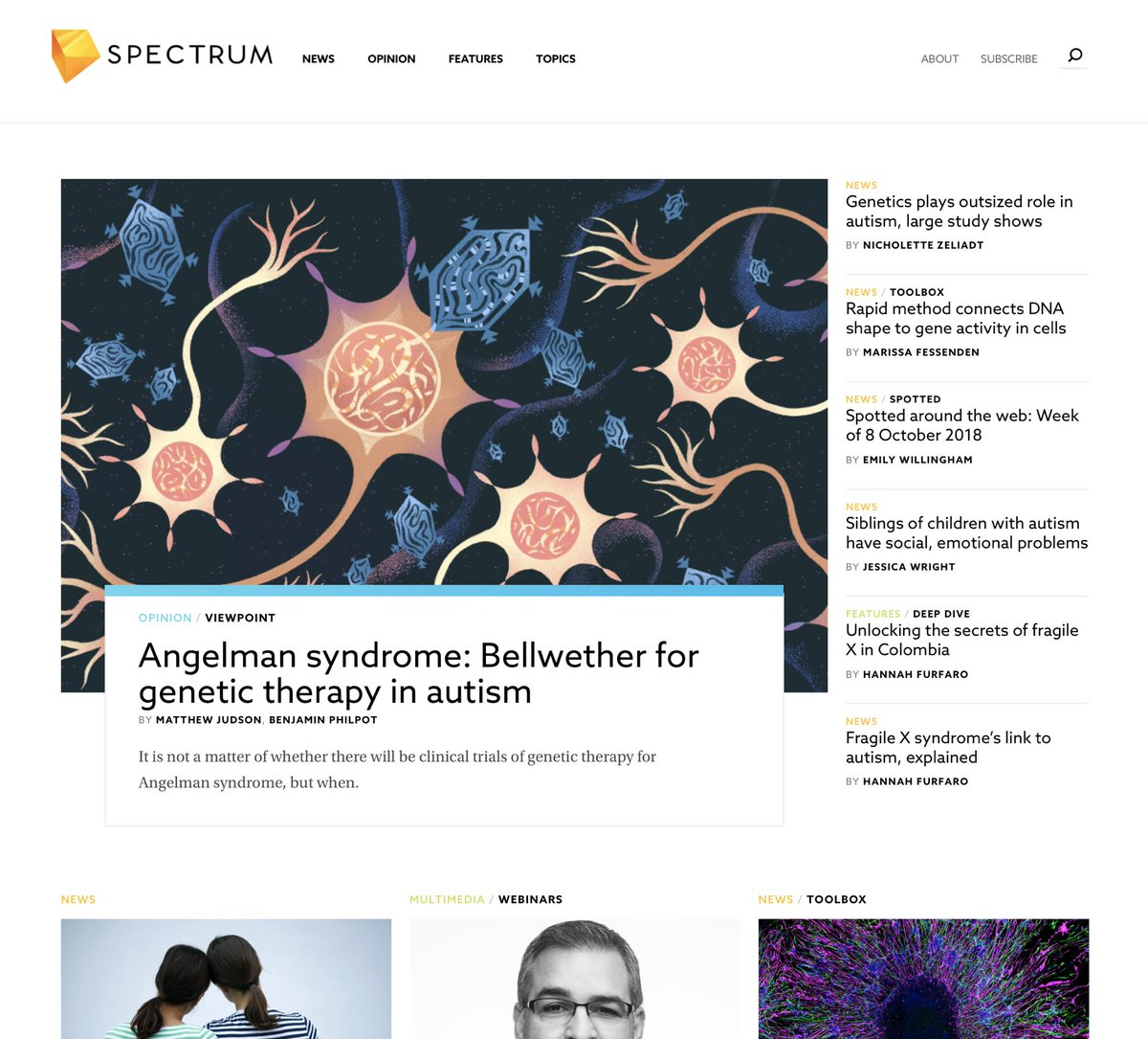 Genetics Plays Outsized Role In Autism >> Marina Muun On Twitter I Have An Illustration In Spectrum Today
