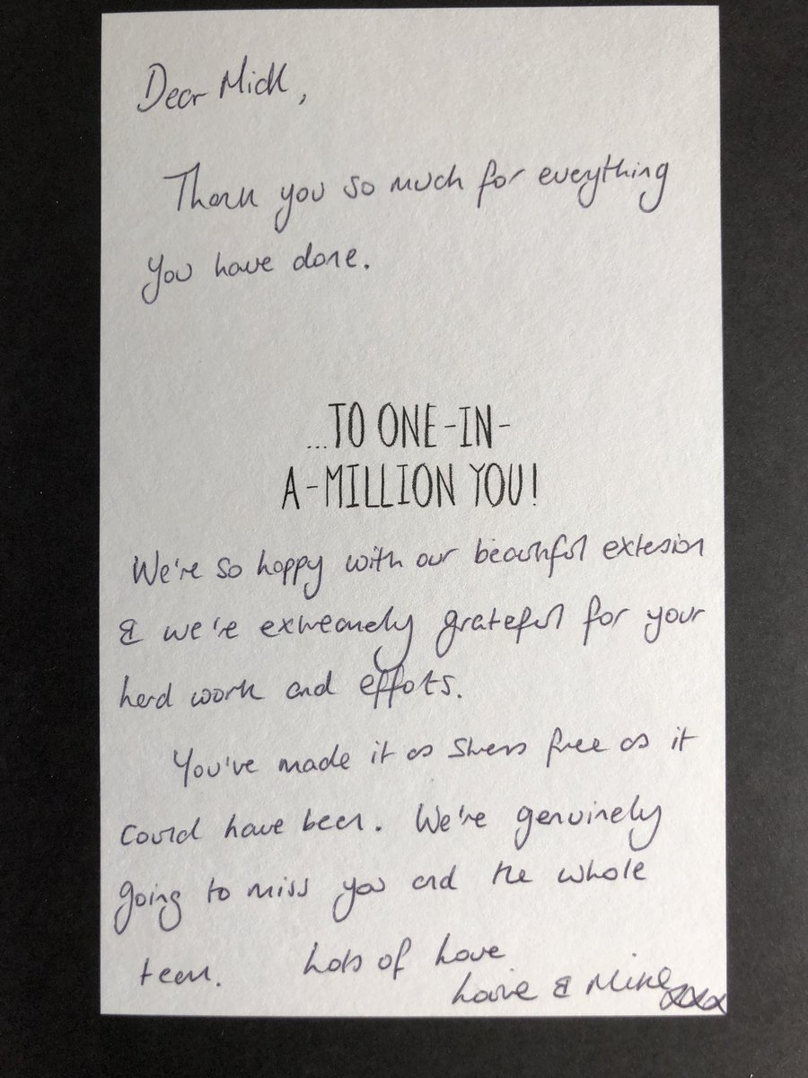 test Twitter Media - Our job in Ainsdale draws to a close. See the card our client has sent to Mick the project manager. Well done team! On to our next job, keep posted for videos. https://t.co/A96jThihlW