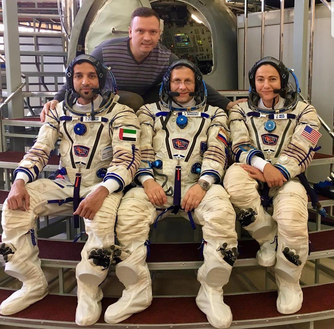 Can't think of a better way to fill the 3 seats in the #Soyuz than with a truly diverse international crew like this one. It's an honor to train with my Russian and United Arab Emirates crewmates @gctc_ru, not to forget our fearless instructor of course.<br>http://pic.twitter.com/9U6Zx1wFZT