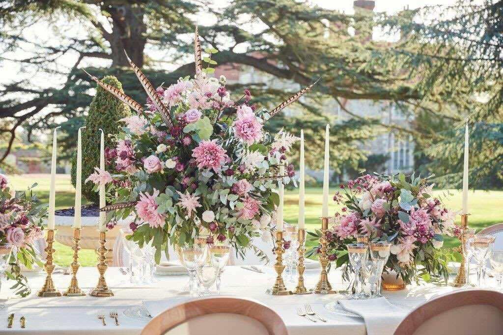 Al fresco dining with an unbeatable backdrop of the ancient Cedar & #loseleyhouse - captured by @laurenceandella and thanks to our brilliant suppliers @CouvertHire @Furniture4Hire @Just4Linen @Loseleyevents Loseley Flowers
