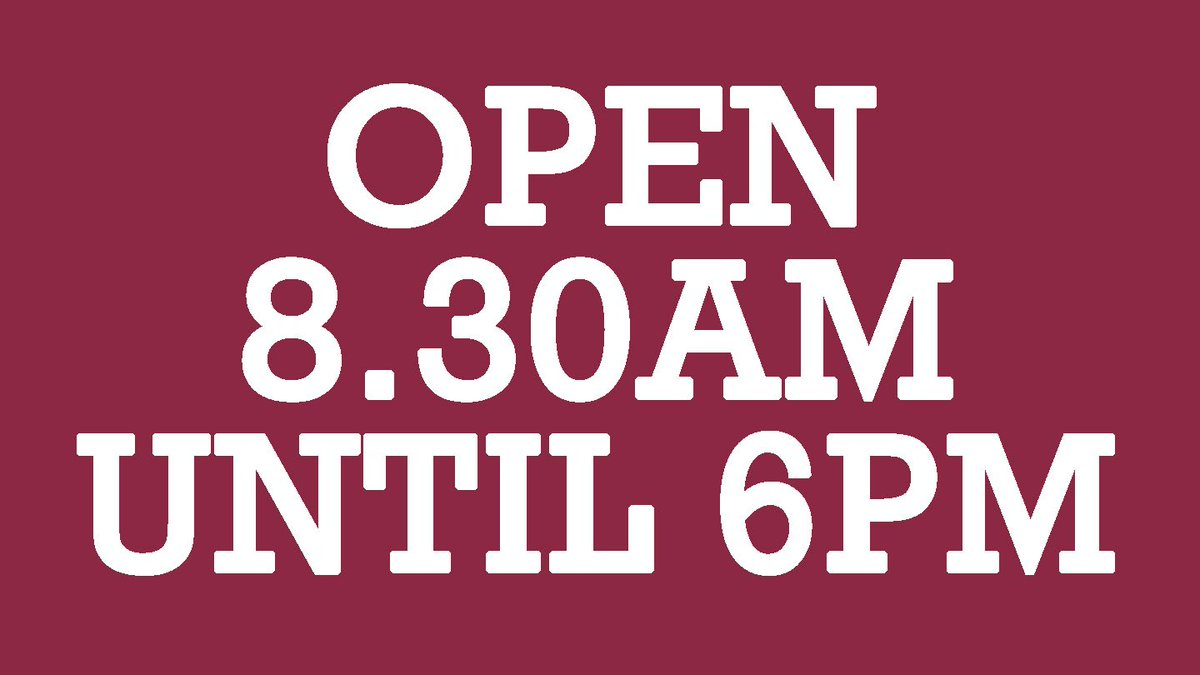 ⏰🎟🛍 Our ticket office and club shop are open for an extra hour today, from 8.30am until the later time of 6pm. Pop down on your way back from work and get tickets for upcoming games at advance rates (e.g. Wycombe away and the home matches), plus Iron merchandise. #UTI #IRON