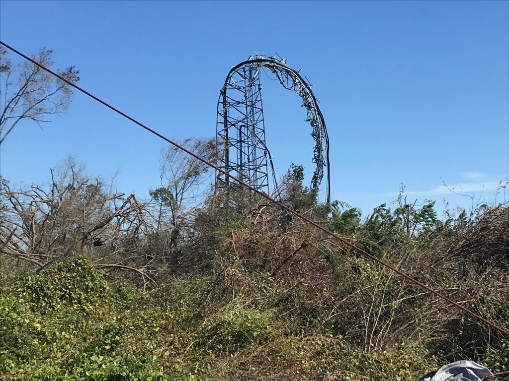 Witness the power of Hurricane Michael's wind - taking this Verizon station tower in Panama City and bending it like spaghetti... #WJHGMichael #HurricaneMicheal <br>http://pic.twitter.com/qEX6Q5550O