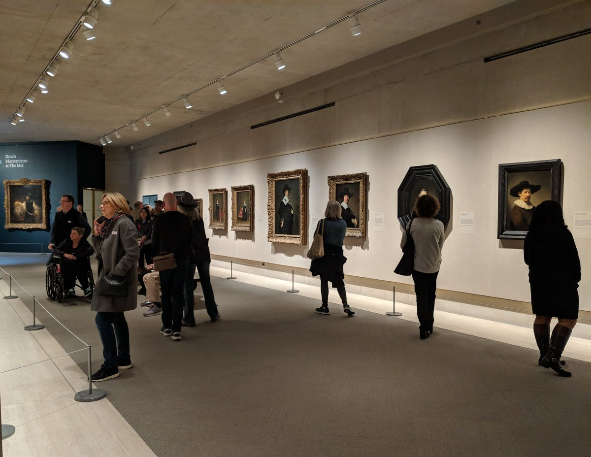 """#CelebratingTintoretto """": Portrait Paintings and Studio Drawings"""" and """"In Praise of Painting: Dutch Masterpieces at The Met"""" are now open to the public in the Robert Lehman Win #MetDutchMasterpiecesg."""