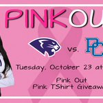 Next Tuesday, October 23 at 7 p.m. come out to Millis in all pink to support🎀Breast Cancer Awareness Month🎀 and your Panthers Volleyball Team.  We'll also be giving out Pink T-Shirts to the first 💯 Fans! #GoHPU #PinkOut