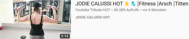 Arsch jodie calussi Discover Jodie