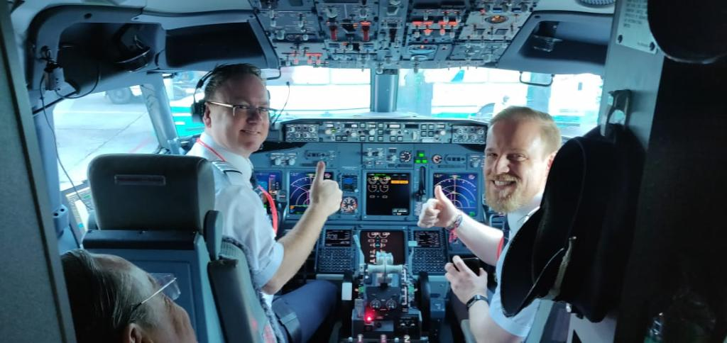 NAA first flight - Ole Christian Melhus and Edgar Boese