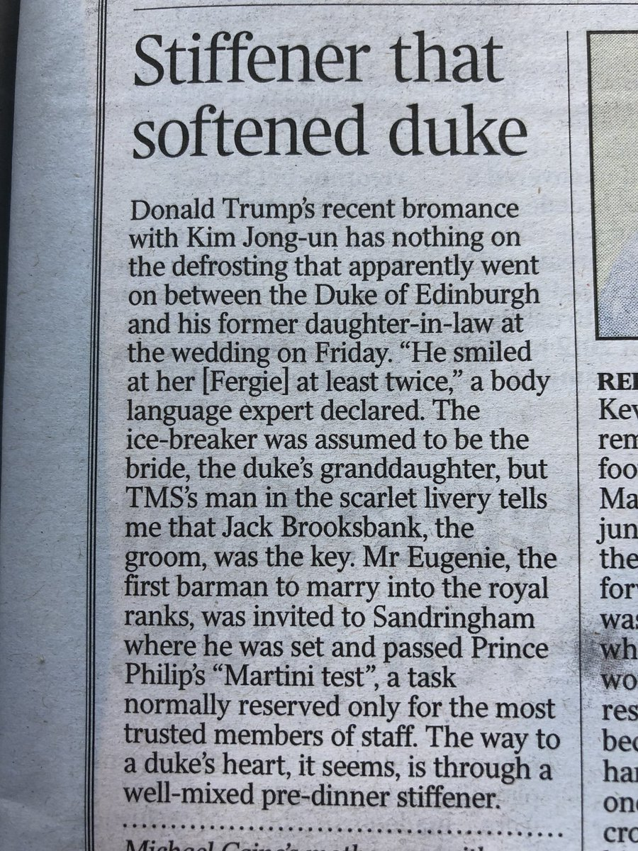 Want to marry into the Royal Family? Learn how to make a martini. (Via today's @thetimes) 👑 🍸