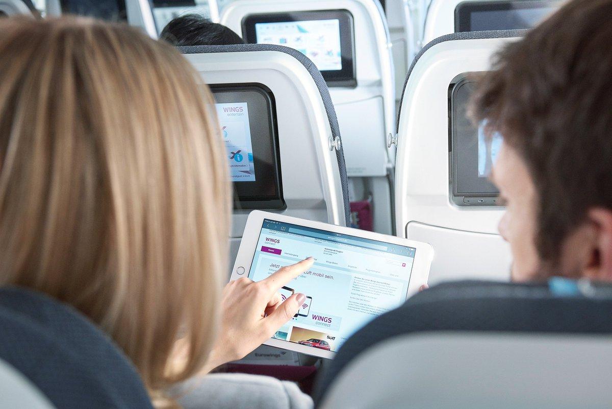 Social Media Post: RT @eurowings: Eurowings and Deutsche Telekom provide free surfing...