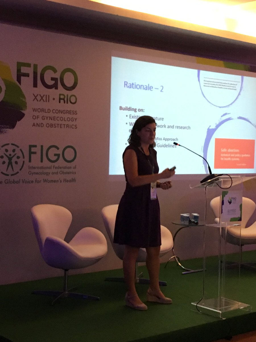 ⁦@otuncalp⁩ presenting multicountry study on#abortion complications @FIGO2018