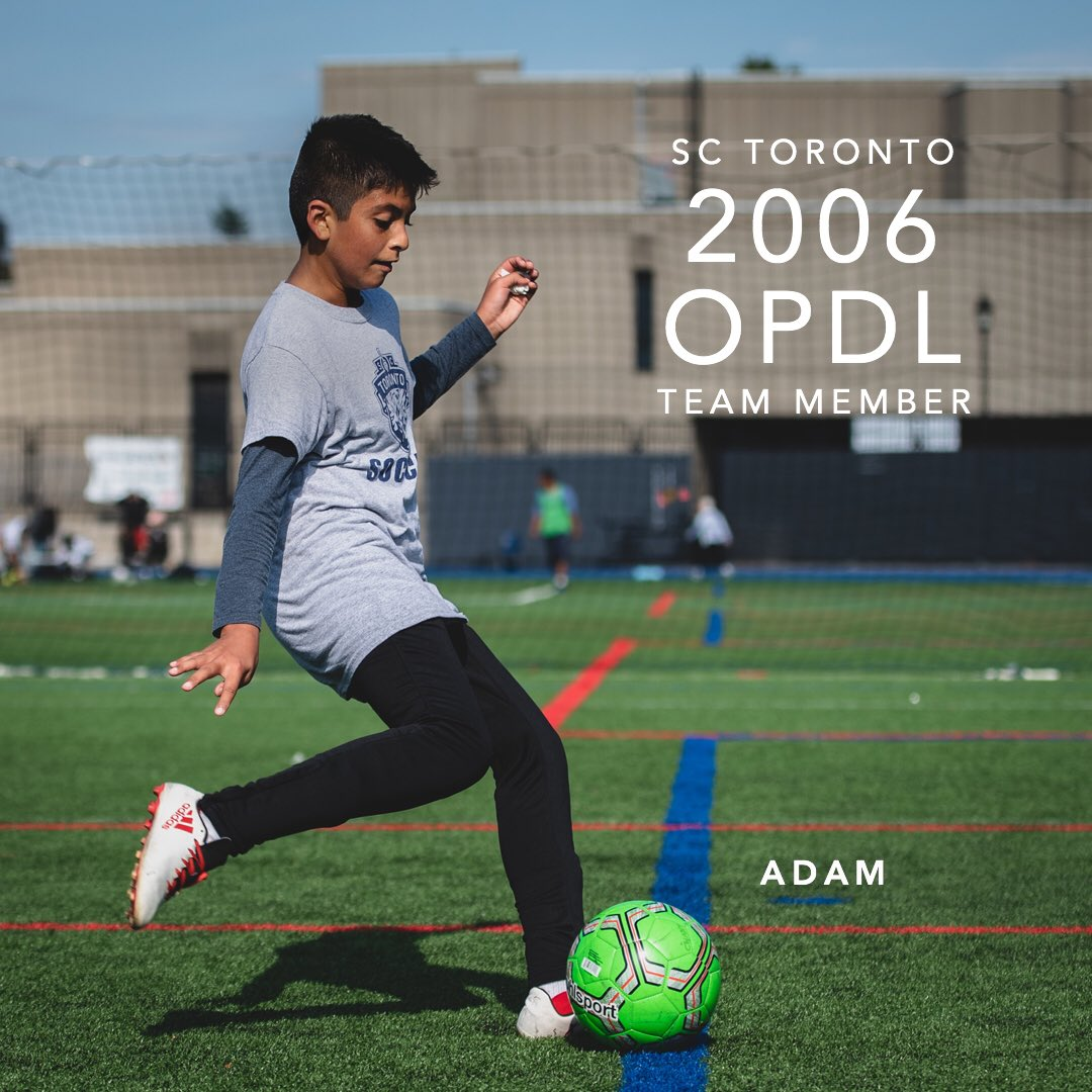 Congratulations Adam for earning a spot on the 2006 SC Toronto OPDL Team #SupportLocalFootball #Toronto #2006Boys  #SCToronto #TorontoSoccer #SoccerInTheSix #OPDL #OntarioSoccer #PlayInspireUnite #Football #Soccer #Canada2026 #TheBeautifulGame