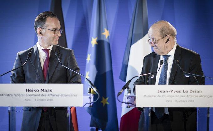Frankreich ist unser engster Partner und Freund. Wir arbeiten gemeinsam an einem neuen Freundschaftsvertrag, einem neuen Élysée-Vertrag. Wir machen es uns nicht auf dem Erreichten bequem, sondern wir stärken und fordern uns gegenseitig. Außenminister @HeikoMaas in Frankreich. Foto