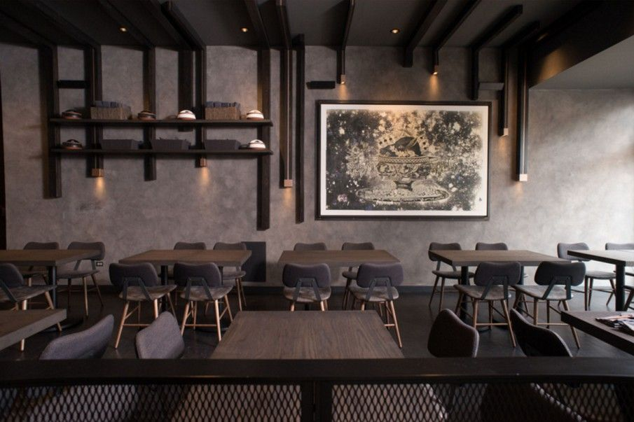 All grey everything. Love this #chic Chicago restaurant design featuring Lola from our Groove collection. Shop Lola here: https://t.co/kBGhKfyYYu  #restaurantdesign