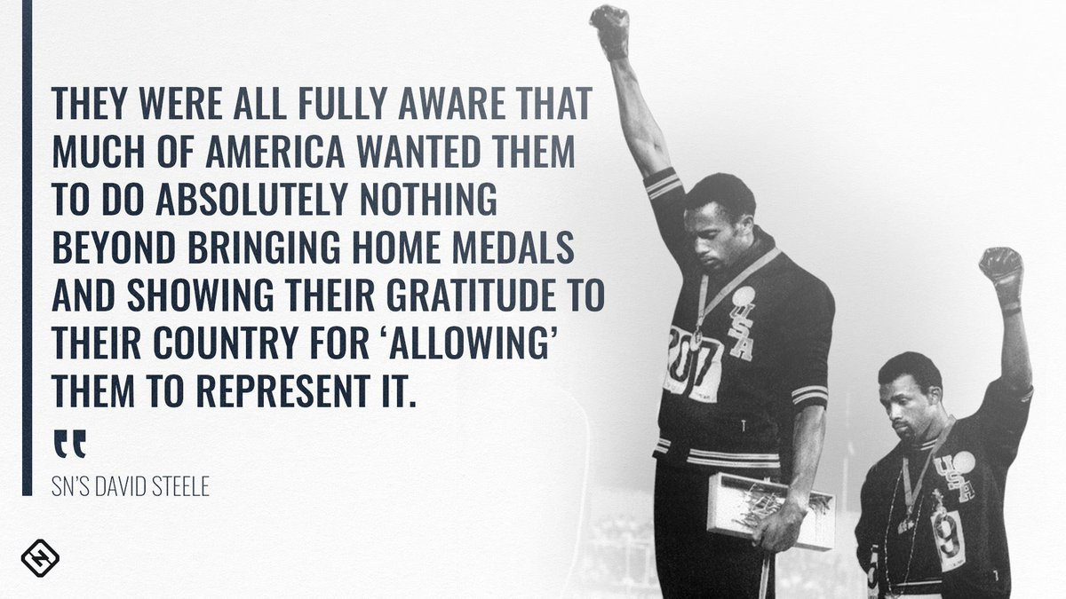 50 years ago, U.S. Olympians Tommie Smith & John Carlos raised their fists in the 'Black Power' salute as they stood on the podium.    SN's  exa@David_C_Steelemines the current state of athlete protests and rebellion since the powerful moment in 1968: https://t.co/SOzY3MYdR9