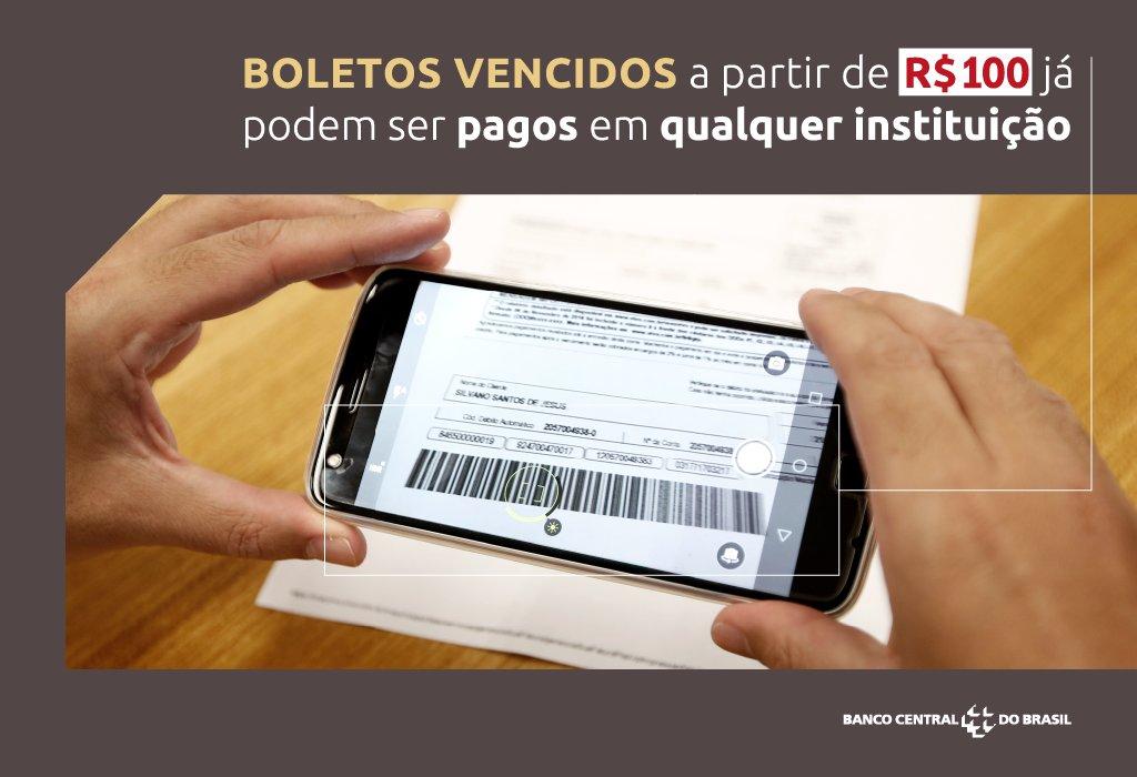 Já está sabendo da novidade? Para valores de R$ 100 ou mais, é possível pagar em qualquer banco os boletos vencidos. Compartilhe a notícia com seus amigos e colegas de trabalho.
