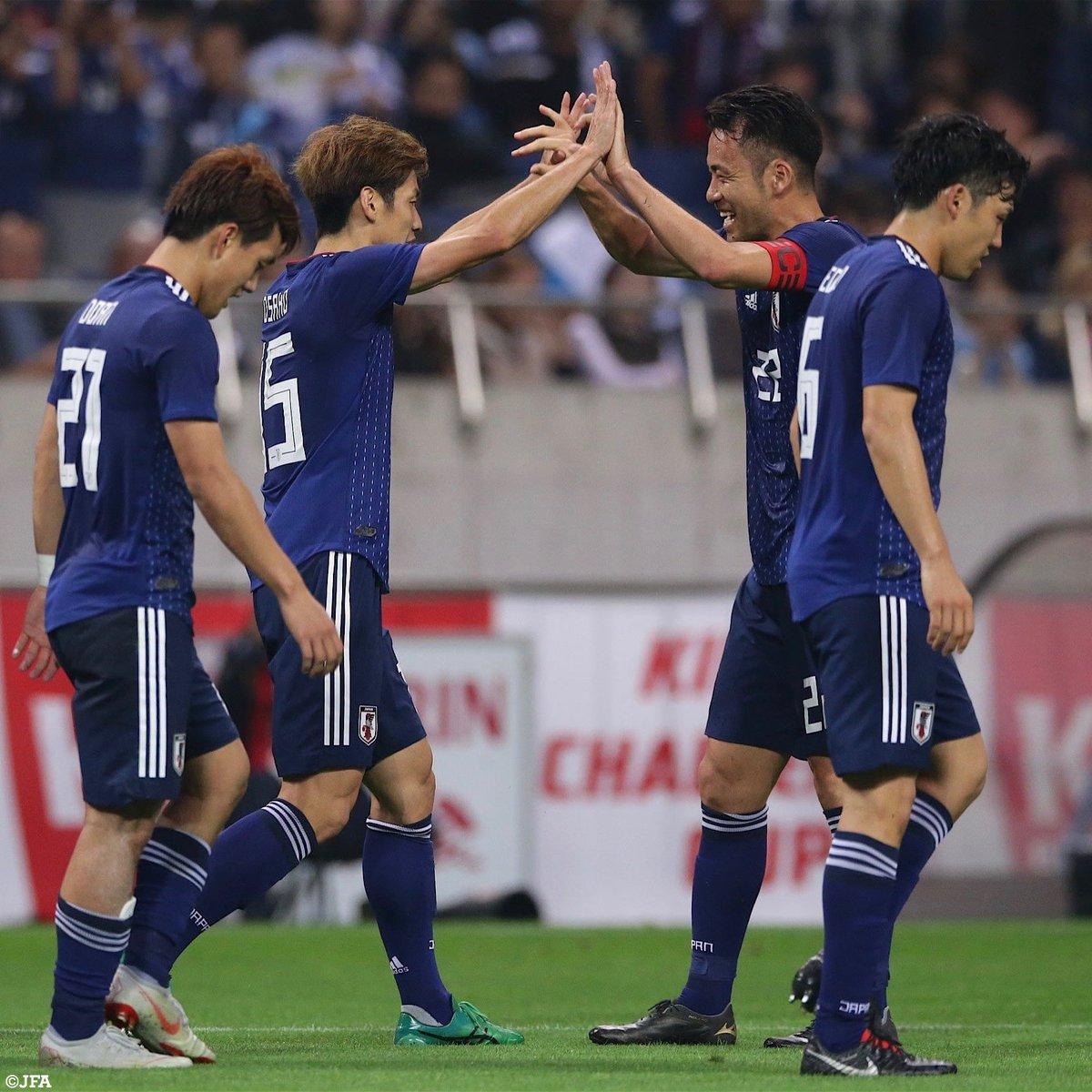 4-3で日本代表が、 ウルグアイ代表に勝利🇯🇵✨  ⚽️#南野拓実 ⚽️#大迫勇也 ⚽️#堂安律 ⚽️#南野拓実   #Jリーグ  #jfa #daihyo 試合レポートはこちら⏬ https://t.co/hQKuh9Aez2