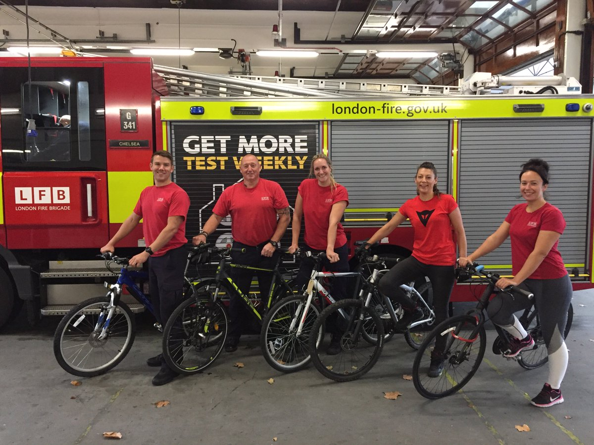 Nine firefighters from #Chelsea fire station are taking part in #My75Miles and cycling from their fire station to Littlehampton on November 1 to raise money for the @firefighters999 https://t.co/4PqO6dovJL