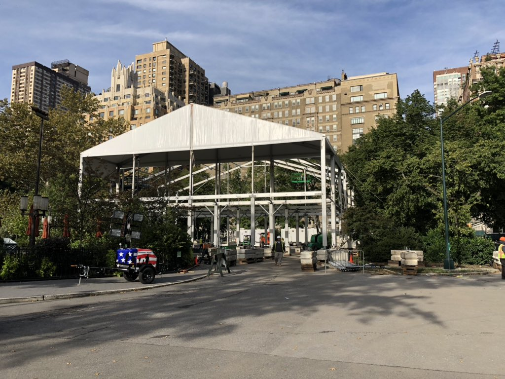 Oh yeah!!! You know what's just around the corner when we start building the #TCSNYCMarathon Pavilion in @centralparknyc. Check tcsnycmarathon.org for the full schedule of activities. Can't wait to see you there!! #GettingReadyToRock