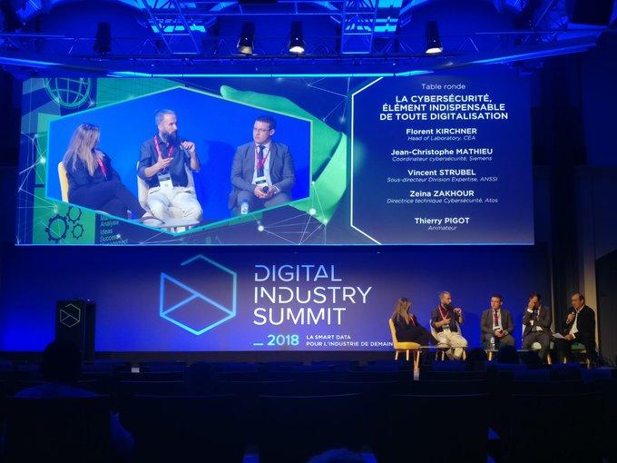 #DigitalIndustrySummit Table ronde #cybersécurité avec les experts de @Siemens, d'@Atos,  du @...