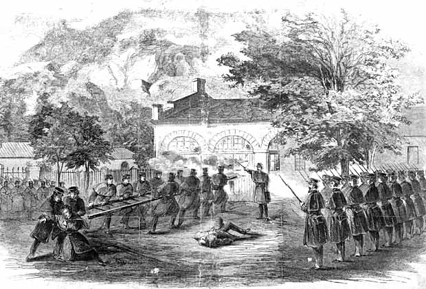 #OTD in 1859, abolitionist John Brown attacked the federal arsenal at Harper's Ferry, VA   The raiders hoped to seize army weapons and then incite a general slave revolt across the South  PC: Harper's Weekly illustration of the raiders' last stand
