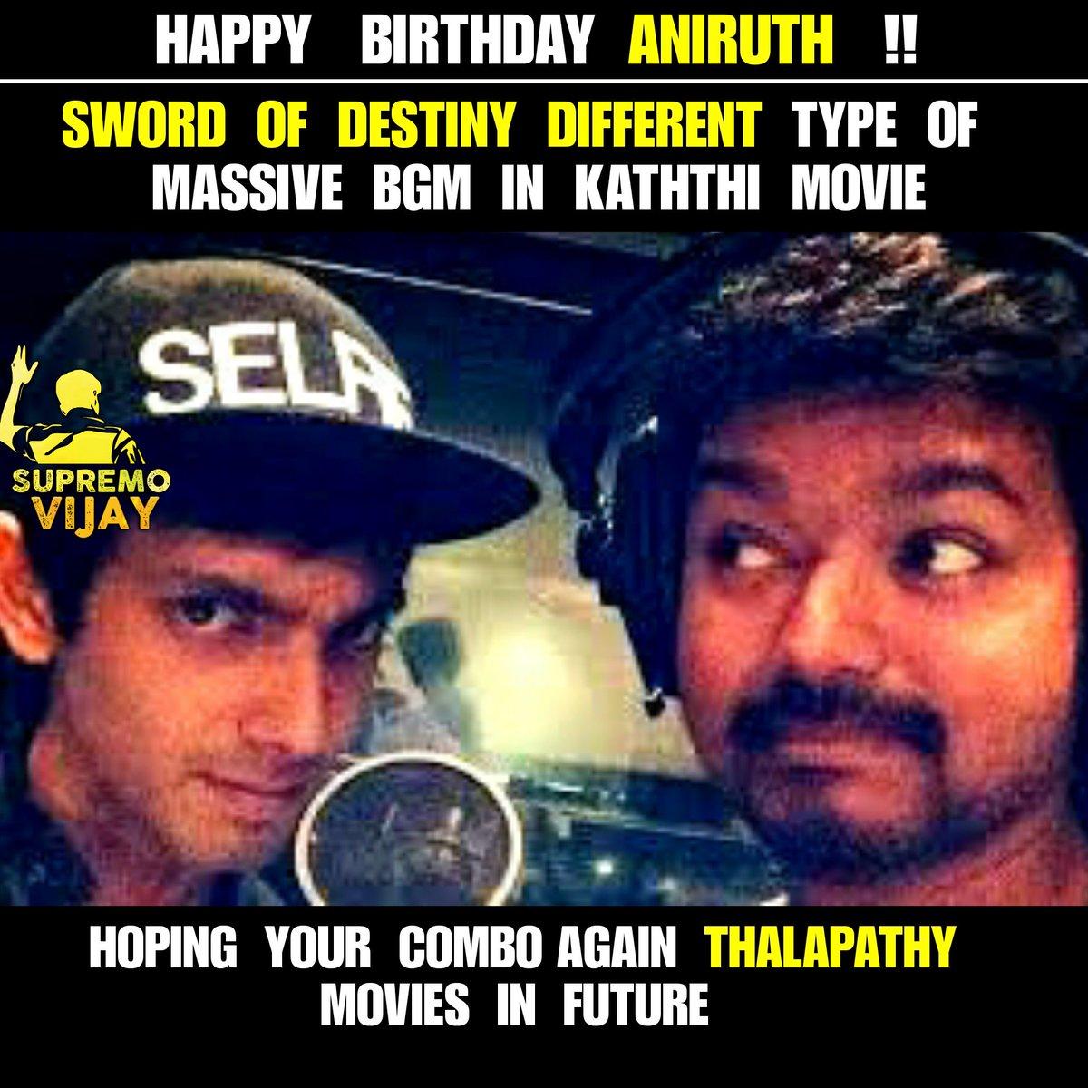 Karnataka Vijay Fans On Twitter Happy Birthday At Anirudhofficial