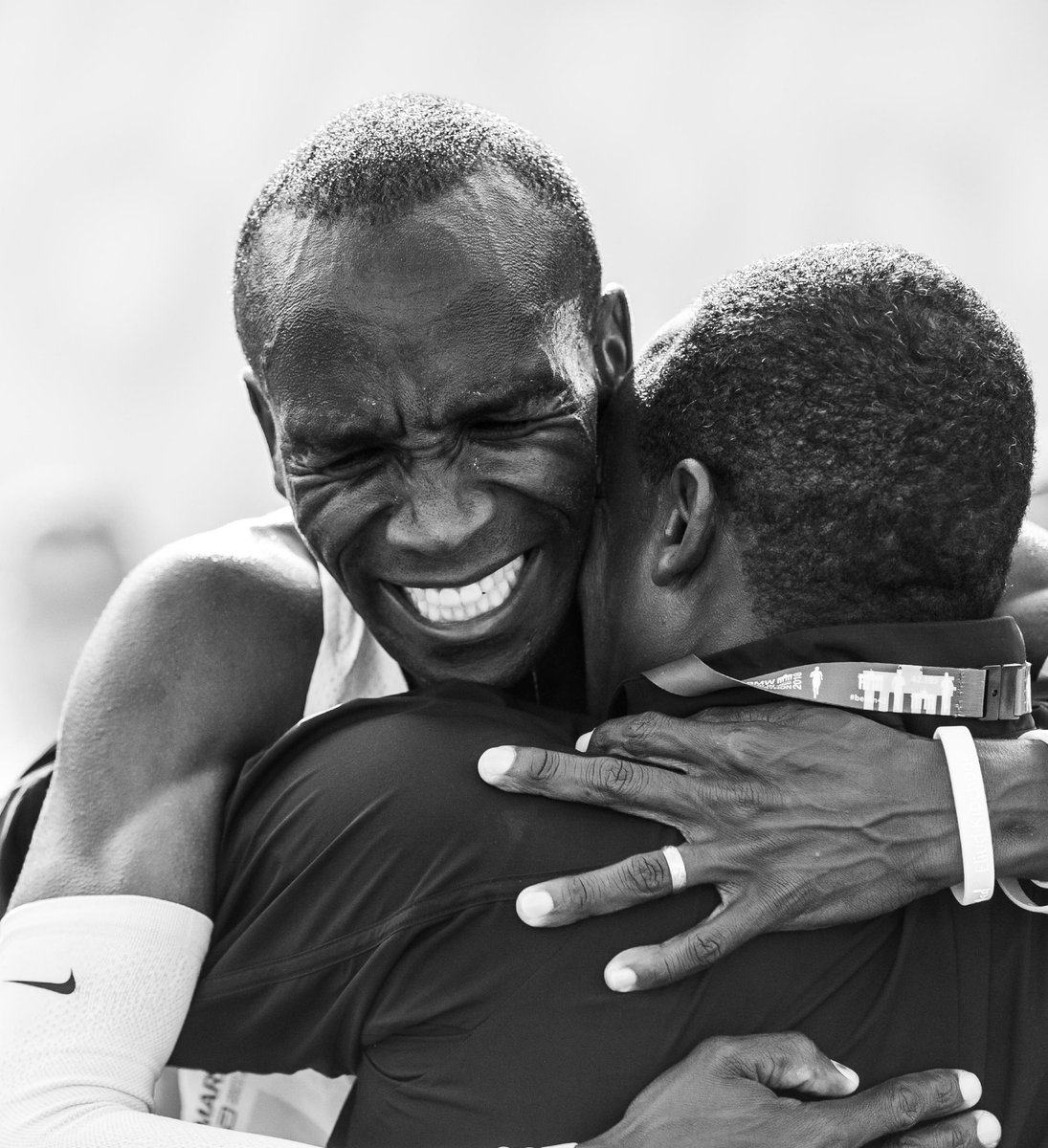 A very special moment with my coach Patrick Sang after our world record in Berlin one month ago.
