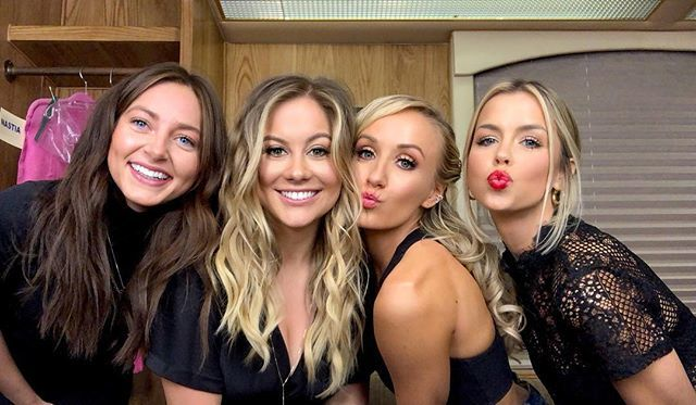 Babe squad! We had the most amazing time last night cheering on @nastialiukin and @marylouretton at @dancingabc love you ladies! #squad #la #dwts