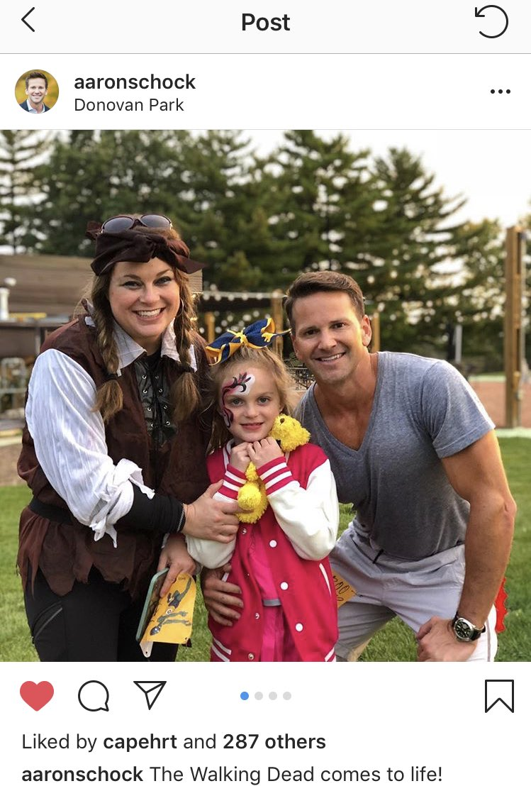 """The Walking Dead has come to life!"" Aaron Schock has posted on Instagram for the first time in two years."