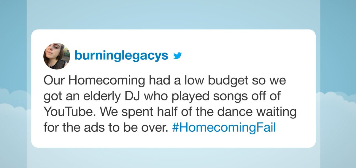 Your hilarious #HomecomingFail tweets are in: https://t.co/s8vjweE0Pc